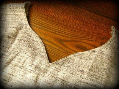 画像1: 100%ナチュラル素材♪手織りフェアトレード カディコットン手刺繍ピクシーフレアスリーブ