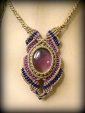 画像4: 1点もの アメジスト ネックレス*紫水晶 アメシスト*マクラメ ハンドメイド天然石アクセサリー (4)
