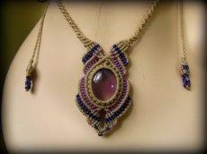 画像6: 1点もの アメジスト ネックレス*紫水晶 アメシスト*マクラメ ハンドメイド天然石アクセサリー (6)