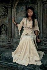 画像3: 再入荷★中世プリンセス風ナチュラルヒッピーロングドレス*ハロウィン衣装・ステージ衣装・野外フェス・ウエディングドレス・パーティーにも♪ (3)
