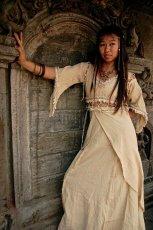 画像4: 再入荷★中世プリンセス風ナチュラルヒッピーロングドレス*ハロウィン衣装・ステージ衣装・野外フェス・ウエディングドレス・パーティーにも♪ (4)