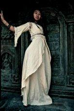 画像5: 再入荷★中世プリンセス風ナチュラルヒッピーロングドレス*ハロウィン衣装・ステージ衣装・野外フェス・ウエディングドレス・パーティーにも♪ (5)