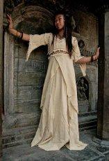 画像2: 再入荷★中世プリンセス風ナチュラルヒッピーロングドレス*ハロウィン衣装・ステージ衣装・野外フェス・ウエディングドレス・パーティーにも♪ (2)