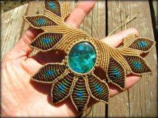 画像6: 青い地球色ペルー産クリソコラのマクラメ編みデザインネックレス/クリソコーラ*パワーストーン (6)