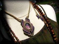 画像9: 1点もの アメジスト ネックレス*紫水晶 アメシスト*マクラメ ハンドメイド天然石アクセサリー (9)