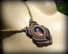 画像3: 1点もの アメジスト ネックレス*紫水晶 アメシスト*マクラメ ハンドメイド天然石アクセサリー (3)