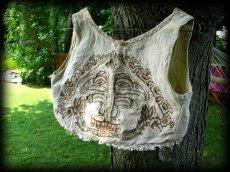 画像6: マヤ紋様手刺繍が個性的!!地球に優しい手織りリネン素材ベスト*トライバル*エスニック*無農薬オーガニック (6)