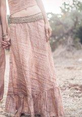 画像4: 新柄入荷♪手紡ぎ・手織りカディコットン ジプシースカート*無農薬*スローファッション*エコロジー*エシカルファッション (4)