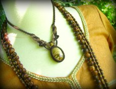 画像7: アースカラー★聖なる石ピクチャージャスパーのマクラメ編みネックレス*パワーストーン天然石 (7)