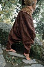 画像4: アイリッシュリネン&カディコットンのトライバル刺繍アラジンパンツ/アフガンパンツ*ヨガ*麻パンツ*スローファッション*メンズ (4)