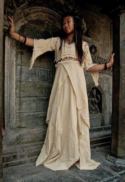 画像3: アイリッシュリネン&カディコットンのトライバル刺繍アラジンパンツ/アフガンパンツ*ヨガ*麻パンツ*スローファッション*メンズ