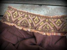 画像11: アイリッシュリネン&カディコットンのトライバル刺繍アラジンパンツ/アフガンパンツ*ヨガ*麻パンツ*スローファッション*メンズ (11)