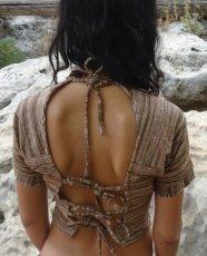 画像4: 地球に優しい手紡ぎ&手織りカディコットンのチョリ風デザイントップ*インドサリー*トラベラー*エシカルファッション (4)
