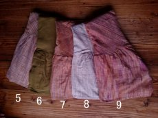 画像7: 新柄入荷♪手紡ぎ・手織りカディコットン ジプシースカート*無農薬*スローファッション*エコロジー*エシカルファッション (7)