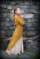 画像2: ハンドメイド♪ダンス衣装・パーティーにも♪チベット装飾紋様手刺繍入り上質ローシルクのターラ(多羅菩薩)ドレス*野蚕絹*エスニック*エコファッション*フェスティバル (2)