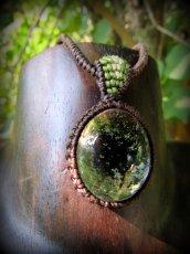 画像2: ブラジル産ガーデンクォーツのシンプルマクラメ編みネックレス/石包みペンダント*庭園水晶*天然石*パワーストーン (2)