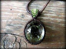 画像14: ブラジル産ガーデンクォーツのシンプルマクラメ編みネックレス/石包みペンダント*庭園水晶*天然石*パワーストーン (14)