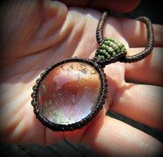画像11: ブラジル産ガーデンクォーツのシンプルマクラメ編みネックレス/石包みペンダント*庭園水晶*天然石*パワーストーン (11)