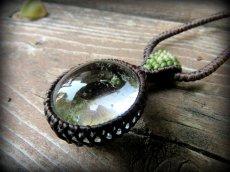 画像5: ブラジル産ガーデンクォーツのシンプルマクラメ編みネックレス/石包みペンダント*庭園水晶*天然石*パワーストーン (5)