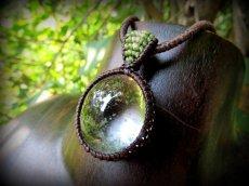 画像4: ブラジル産ガーデンクォーツのシンプルマクラメ編みネックレス/石包みペンダント*庭園水晶*天然石*パワーストーン (4)