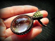 画像12: ブラジル産ガーデンクォーツのシンプルマクラメ編みネックレス/石包みペンダント*庭園水晶*天然石*パワーストーン (12)