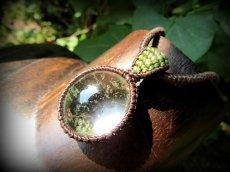 画像3: ブラジル産ガーデンクォーツのシンプルマクラメ編みネックレス/石包みペンダント*庭園水晶*天然石*パワーストーン (3)