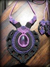 画像7: 女性の魅力を高めるアメジストのデザインネックレス*紫水晶*マクラメ*ハンドメイド*アメシスト*天然石 (7)