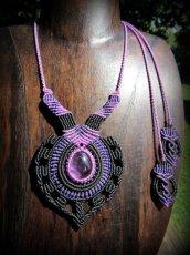 画像5: 女性の魅力を高めるアメジストのデザインネックレス*紫水晶*マクラメ*ハンドメイド*アメシスト*天然石 (5)