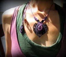 画像12: 女性の魅力を高めるアメジストのデザインネックレス*紫水晶*マクラメ*ハンドメイド*アメシスト*天然石 (12)