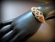 画像10: きらきらアメジスト&ユナカイトのマクラメ編みブレスレット*アメシスト*紫水晶*天然石ジュエリー*パワーストーン (10)