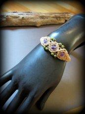 画像9: きらきらアメジスト&ユナカイトのマクラメ編みブレスレット*アメシスト*紫水晶*天然石ジュエリー*パワーストーン (9)