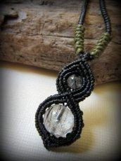 画像2: トルマリンインクォーツのペンダント/ネックレス*水晶*パワーストーン天然石マクラメ (2)