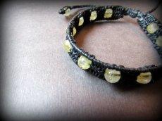 画像9: 芸術的感性を高める石ルチルクォーツのハンドメイド手編みブレスレット*マクラメ*パワーストーン (9)