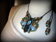 画像6: 1点物★上質カナダ産ラブラドライトのマクラメ編みデザインネックレス*パワーストーン*天然石 (6)