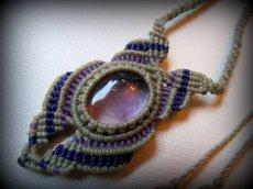 画像14: 1点もの アメジスト ネックレス*紫水晶 アメシスト*マクラメ ハンドメイド天然石アクセサリー (14)