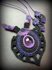 画像4: 女性の魅力を高めるアメジストのデザインネックレス*紫水晶*マクラメ*ハンドメイド*アメシスト*天然石 (4)