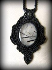 画像13: 浄化の石トルマリンインクォーツ ネックレス マクラメ編み*水晶*トルマリンクォーツ (13)