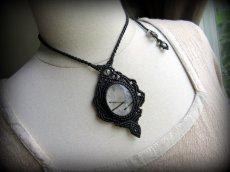 画像6: 浄化の石トルマリンインクォーツ ネックレス マクラメ編み*水晶*トルマリンクォーツ (6)