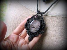 画像8: 浄化の石トルマリンインクォーツ ネックレス マクラメ編み*水晶*トルマリンクォーツ (8)