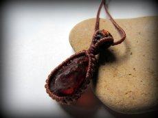 画像6: 天然アンバー/琥珀のネックレス・ペンダント*マクラメ*天然石 (6)