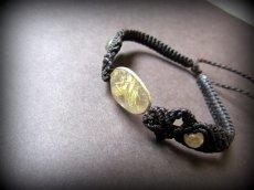 画像3: きらきらゴールドルチルクォーツ(針水晶)シルバー925パーツ天然石ブレスレット*パワーストーン (3)