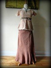 画像10: ナチュラル手織りフェアトレード カディコットン ハンドメイド 手刺繍サリートップ*エコファッション*ジプシー*民族衣装*ダンス衣装*ウェディング (10)