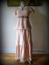 画像8: 手織りフェアトレード カディコットン ナチュラルジプシーフリンジスカート*無染色*無地*ハンドメイド*ボヘミアン (8)