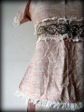 画像9: ナチュラル手織りフェアトレード カディコットン ハンドメイド 手刺繍サリートップ*エコファッション*ジプシー*民族衣装*ダンス衣装*ウェディング (9)