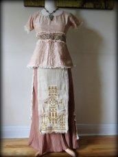 画像13: ナチュラル手織りフェアトレード カディコットン ハンドメイド 手刺繍サリートップ*エコファッション*ジプシー*民族衣装*ダンス衣装*ウェディング (13)