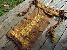 画像9: 1枚のみ再入荷★ネイティブアメリカン トライバル手刺繍パネルスカート brown*ユニセックス*ダンス衣装*オーガニック*エコファッション*無農薬 (9)