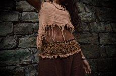 画像10: アイリッシュリネン&カディコットンのトライバル刺繍アラジンパンツ/アフガンパンツ*ヨガ*麻パンツ*スローファッション*メンズ (10)