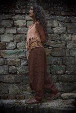 画像8: アイリッシュリネン&カディコットンのトライバル刺繍アラジンパンツ/アフガンパンツ*ヨガ*麻パンツ*スローファッション*メンズ (8)
