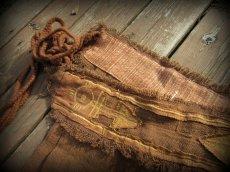 画像11: 1枚のみ再入荷★ネイティブアメリカン トライバル手刺繍パネルスカート brown*ユニセックス*ダンス衣装*オーガニック*エコファッション*無農薬 (11)