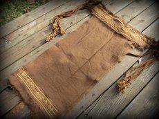 画像10: 1枚のみ再入荷★ネイティブアメリカン トライバル手刺繍パネルスカート brown*ユニセックス*ダンス衣装*オーガニック*エコファッション*無農薬 (10)